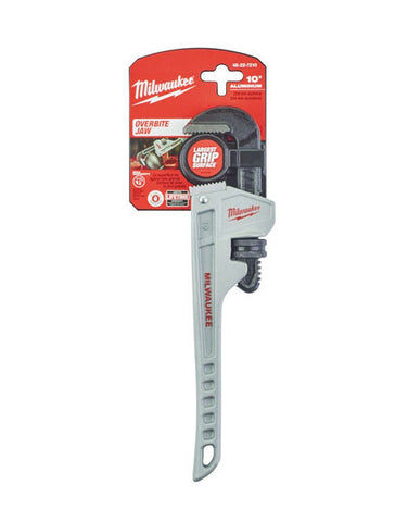 "Milwaukee 254mm(10"") Aluminum Pipe Wrench 48227210"