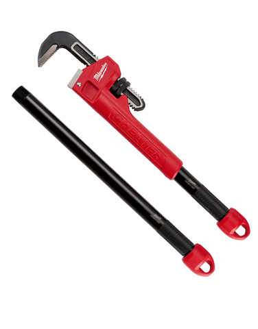Milwaukee Cheater Adaptable Pipe Wrench 3 Length Design 48227314