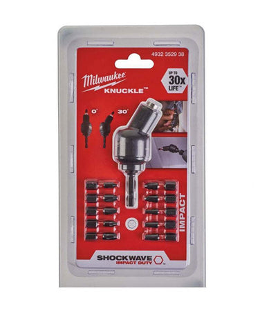 Milwaukee 4932352938 11 Piece Shockwave Knuckle Offset Attachment