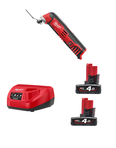 Milwaukee C12MT M12 12volt Compact Cordless Multi Tool 2 x 4AMH Batteries Charger