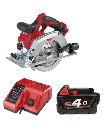 Milwaukee HD18CS-401C 18 Volt Circular Saw With Blade 1 x 4AMH Battery Charger