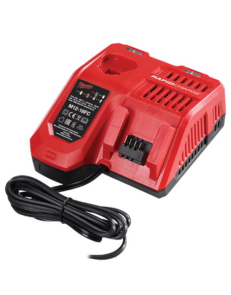 Milwaukee M12-18FC 240V UK 18V & 12V Dual Battery Lithium New Fast Charger
