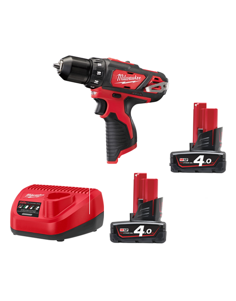 Milwaukee M12BDD-402C 12volt 2 Speed Sub Compact Drill Driver 2 x 4AMH Batteries Charger