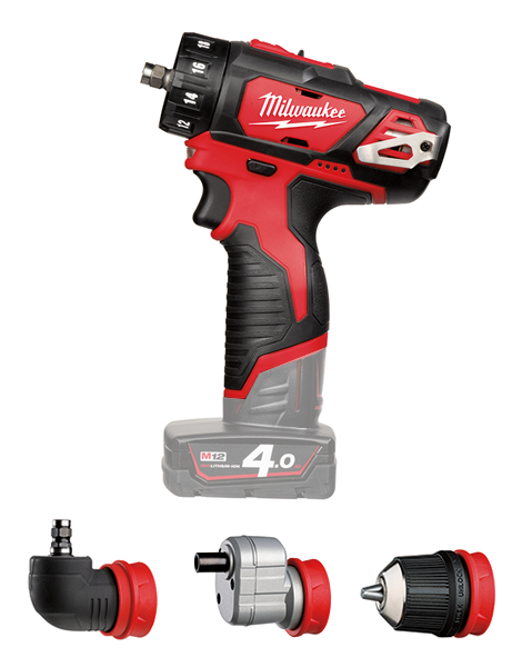 Milwaukee M12BDDX Compact Drill Driver With Interchangeable Chucks Body Only