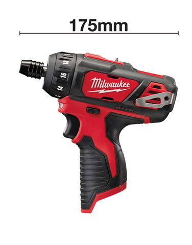 MILWAUKEE 12V M12BD-0 SUB COMPACT SCREWDRIVER BODY ONLY