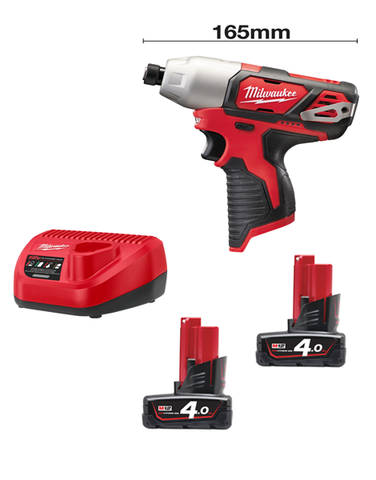Milwaukee M12BID-402C 12volt 165mm Sub Compact Impact Driver 2 x 4AMH Batteries Charger