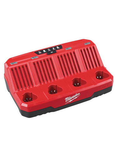 MILWAUKEE M12C4 M12 12V 4 BAY MULTI CHARGER 240V