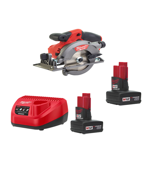 Milwaukee M12CCS44-302C 12Volt Fuel Brushless Compact Circular Saw 2 x 3AMH Batteries Charger
