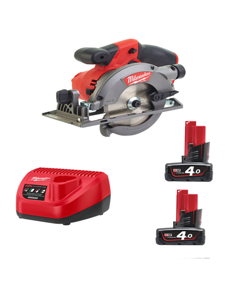 Milwaukee M12CCS44-402C 12Volt Fuel Brushless Compact Circular Saw 2 x 4AMH Batteries Charger