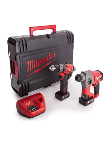 Milwaukee M12CPP2B-602X FUEL ThunderBolt SDS+ Hammer Drill Kit  2 x 6amh Batteries Charger