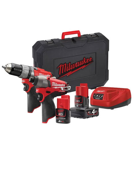 Milwaukee M12CPP2C-422C Fuel Twin Pack 12v 1 x 4.0Ah/1 x 2.0Ah Li-Ion