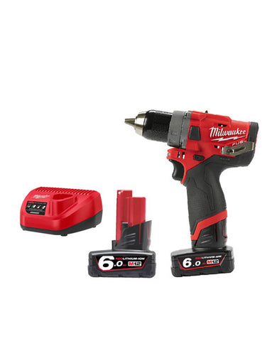 Milwaukee M12FDD-602X 12v Fuel Drill/Driver 2 x 6amh Battery Charger