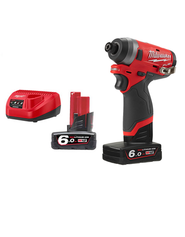 Milwaukee M12FID-602X M12 Fuel Compact Impact Driver 2 x 6amh Batteries Charger