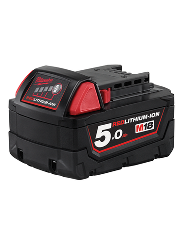 Milwaukee M18B5 18v 5.0ah Lithium (li-ion) Battery - Red Li-ion