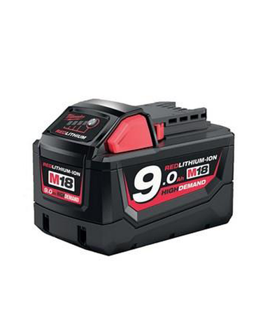 Milwaukee M18B9 M18 9.0Ah Red Lithium-Ion Battery