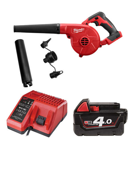 MILWAUKEE M18BBL-401 18V COMPACT 3 SPEED GARDEN LEAF SITE BLOWER 1 x 4AMH BATTERY + CHARGER
