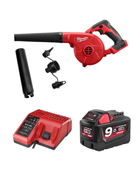 MILWAUKEE M18BBL-901 18V COMPACT 3 SPEED GARDEN LEAF SITE BLOWER 1 x 9AMH BATTERY + CHARGER