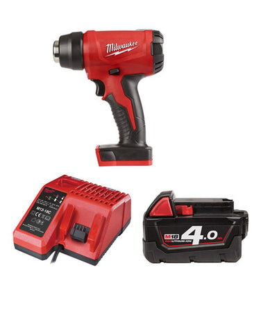 Milwaukee M18BHG-401 Cordless Brushed Heat Gun 1 x 4amh Battery + Charger