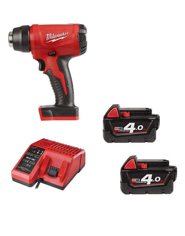 Milwaukee M18BHG-402 Cordless Brushed Heat Gun 2 x 4amh Battery + Charger