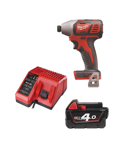 Milwaukee M18BID-401C 18v Impact Driver 1 x 4amh Battery Charger