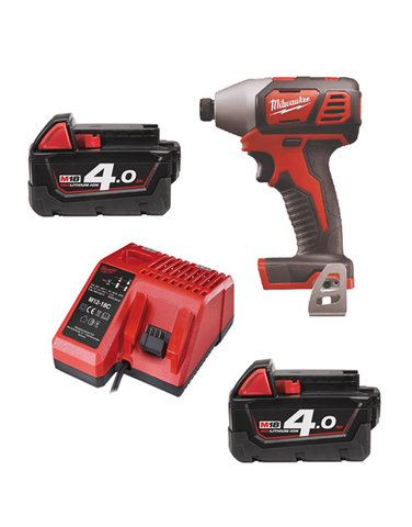 Milwaukee M18BID-402C 18v Impact Driver 2 x 4amh Batteries Charger