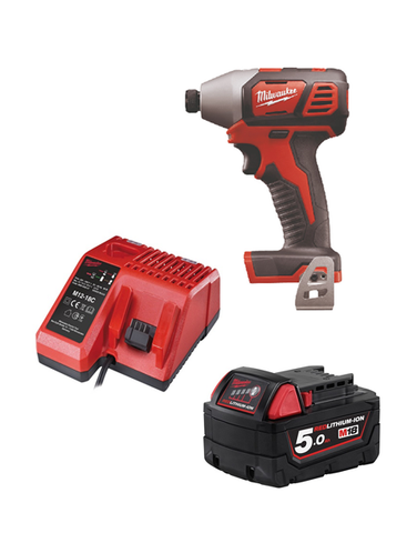 Milwaukee M18BID-501C 18v Impact Driver 1 x 5amh Battery Charger