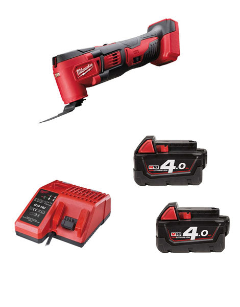 MILWAUKEE M18BMT-402 M18 18V COMPACT MULTI TOOL 2 x 4AMH BATTERIES + CHARGER