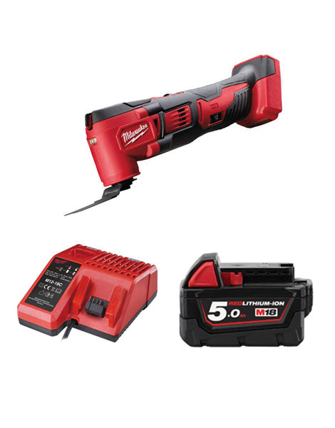 MILWAUKEE M18BMT-501 M18 18V COMPACT MULTI TOOL 1 x 5AMH BATTERY + CHARGER