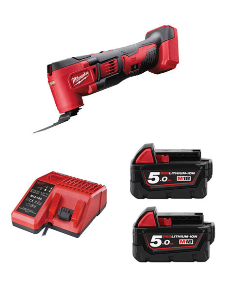 MILWAUKEE M18BMT-502 M18 18V COMPACT MULTI TOOL 2 x 5AMH BATTERIES + CHARGER
