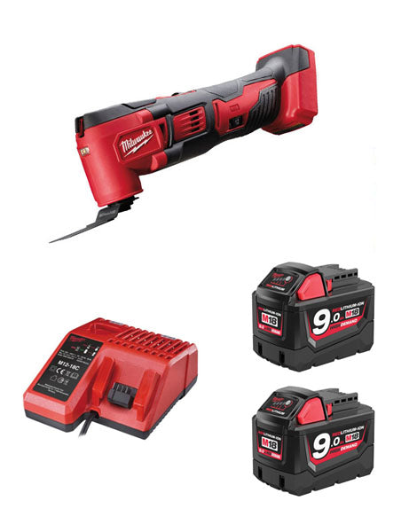 MILWAUKEE M18BMT-902 M18 18V COMPACT MULTI TOOL 2 x 9AMH BATTERY + CHARGER