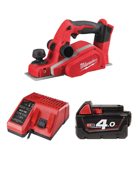 MILWAUKEE M18BP-401 18V LI-ION 82MM CORDLESS PLANER 1 X 4AMH BATTERY + CHARGER