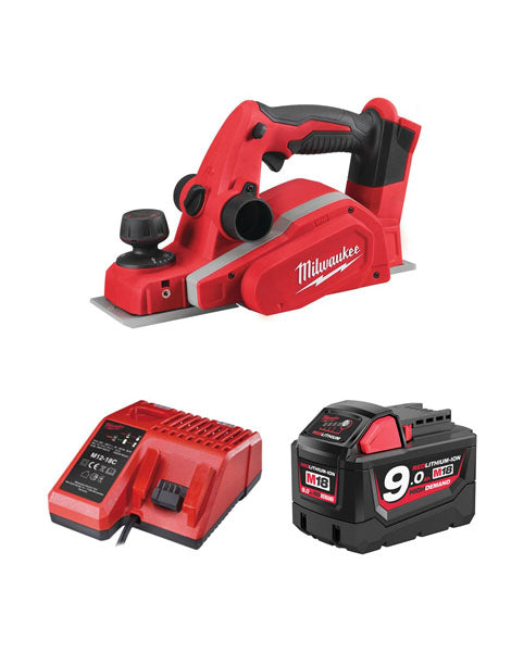 MILWAUKEE M18BP-901 18V LI-ION 82MM CORDLESS PLANER 1 X 9AMH BATTERY + CHARGER