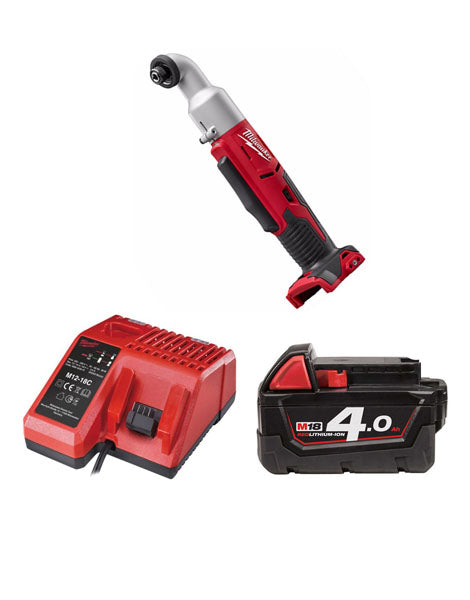 MILWAUKEE M18BRAID-401 18V COMPACT RIGHT ANGLE IMPACT DRIVER 1 X 4AMH BATTERY + CHARGER