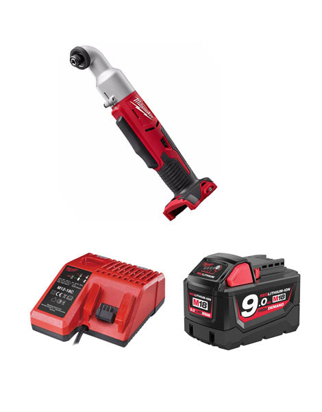 MILWAUKEE M18BRAID-901 18V COMPACT RIGHT ANGLE IMPACT DRIVER 1 X 9AMH BATTERY + CHARGER
