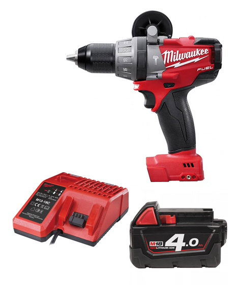 Milwaukee M18CPD-401C Fuel 18v Li-ion Combi Drill 1 X 4AMH Battery Charger
