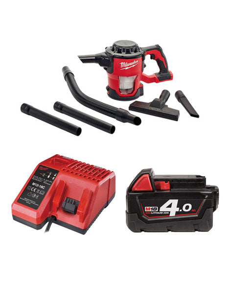 Milwaukee M18CV-401 18v M18 Compact Hand Vacuum 1 x 4amh Battery + Charger