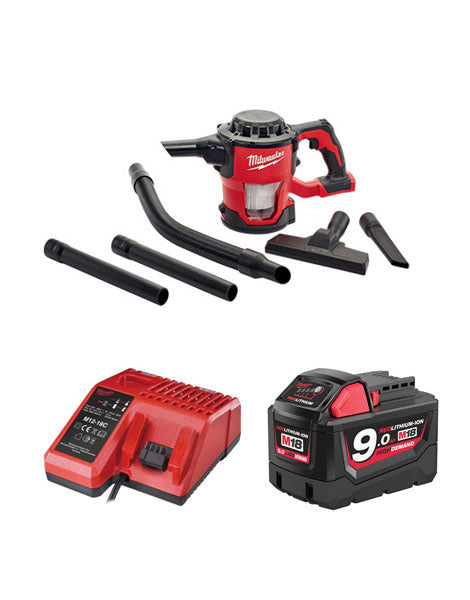 Milwaukee M18CV-901 18v M18 Compact Hand Vacuum 1 x 9amh Battery + Charger