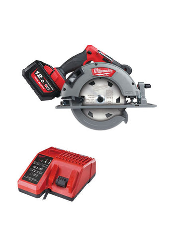 Milwaukee M18FCS66-121C 18v FUEL 66mm Circular Saw 1 X 12amh Battery + Charger
