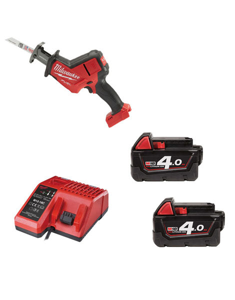 MILWAUKEE M18FHZ-402 M18 FUEL HACKZALL RECIP 2 X 4AMH BATTERIES CHARGER