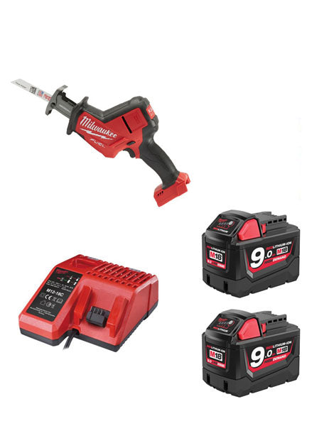 MILWAUKEE M18FHZ-902 M18 FUEL HACKZALL RECIP 2 X 9AMH BATTERIES CHARGER