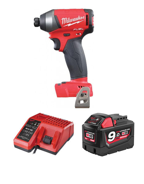 Milwaukee M18FID-901 18v Next Gen Fuel Impact Driver 1 x 9amh Battery Charger