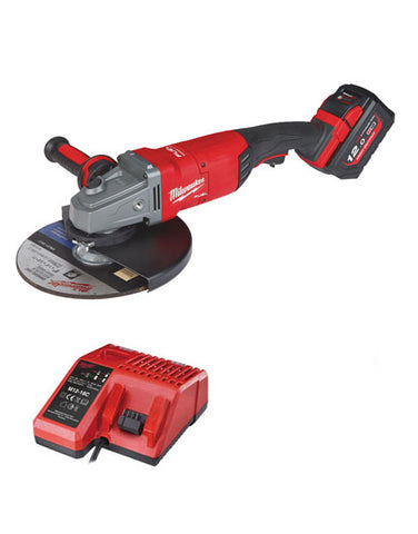Milwaukee M18FLAG230XPDB-121C 18v 1 x 12.0Ah Li-ion FUEL 9inch Angle Grinder Kit
