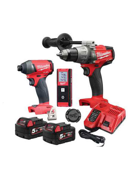 MILWAUKEE 18V FUEL TWINPACK WITH DISTANCE METER & TICK M18FPP3G-502X