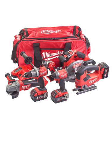 Milwaukee M18FPP6D2-503B 6 Piece Fuel Power Pack 3 x 5amh Batteries & Charger