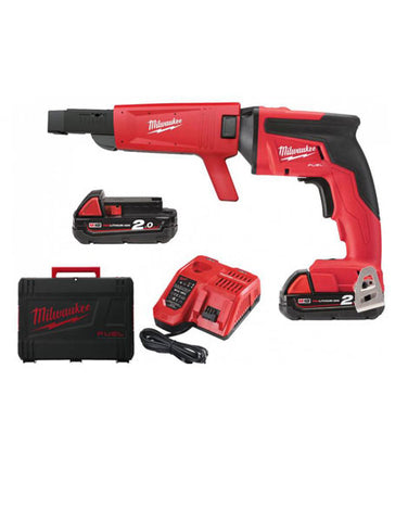 Milwaukee M18FSGC-202X M18 FUEL Screw Gun with Collated Attachment 2 X 2AMH BATTERY CHARGER