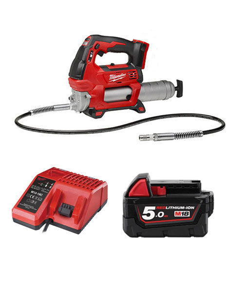 Milwaukee M18GG-501 18V Cordless Grease Gun 1 x 5amh Battery + Charger