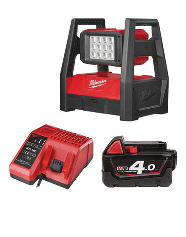 MILWAUKEE M18HAL-401 M18 110V LED HIGH PERFORMANCE AREA LIGHT 1 X 4AH + CHARGER