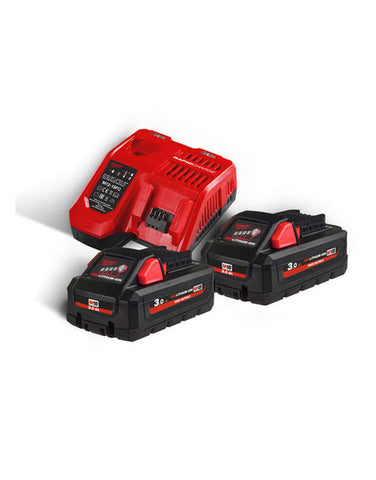 Milwaukee M18HNRG-302 18v Li-ion 3.0Ah High Output Battery Twin pack