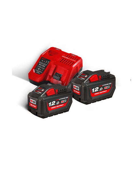 Milwaukee M18HNRG-122 18v Li-ion 12.0Ah High Output Battery Twin pack
