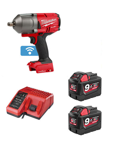 "Milwaukee M18ONEFHIWF12-902X FUEL One Key 1/2"" Impact Wrench 2 x 9amh Batteries"